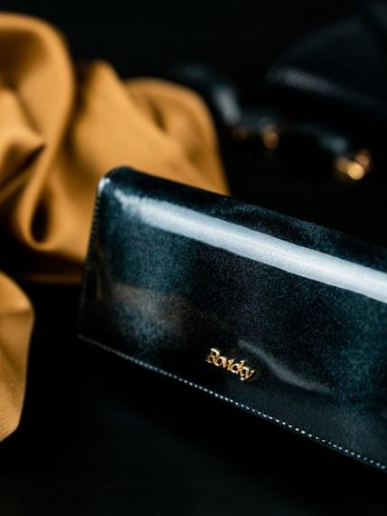 Portfel damski skórzany RFID Rovicky czarny