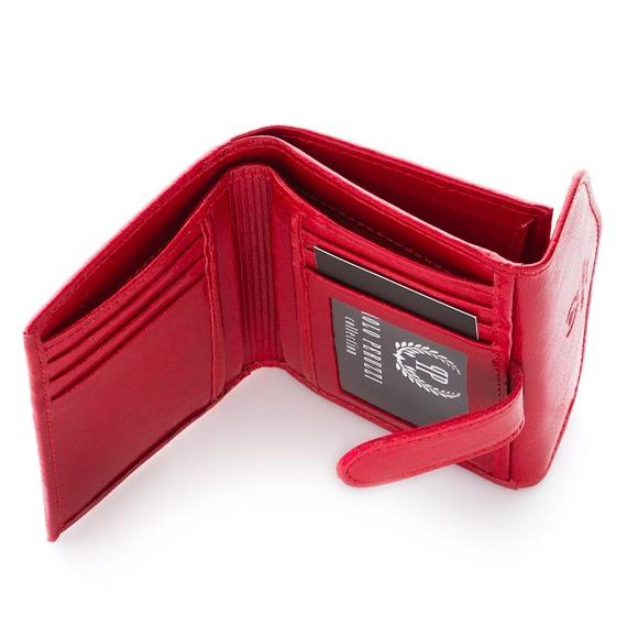 Portfel damski skórzany czerwony Paolo Peruzzi L-05-PP