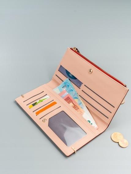 Portfel damski slim wallet czerwony Milano Design K1209
