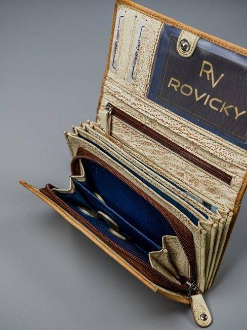 Portfel damski żółty Rovicky R-N22-ART-08 YELLOW