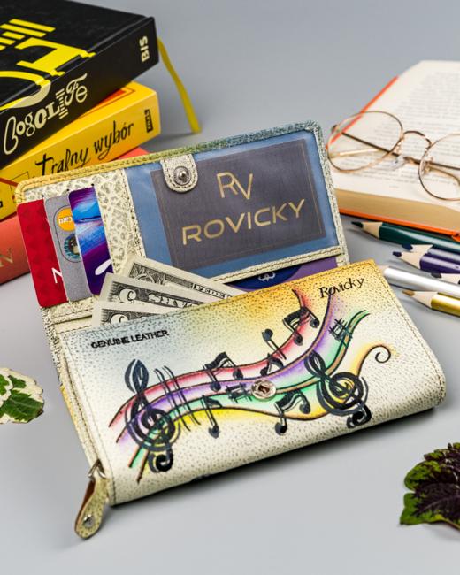 Portfel damski żółty Rovicky R-N22-ART-11 YELLOW