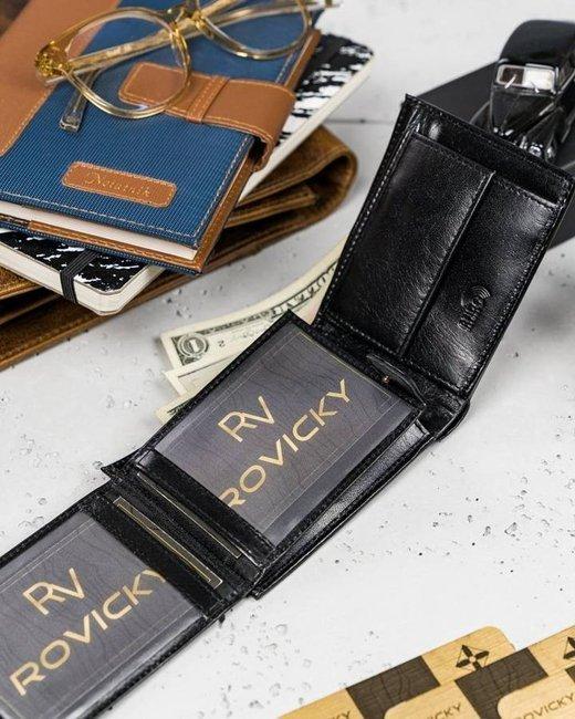Portfel męski Loren czarny RM-05-BCF BLACK