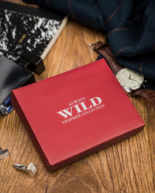 Portfel męski bordowy Always Wild N20197L-VTK-N WINE