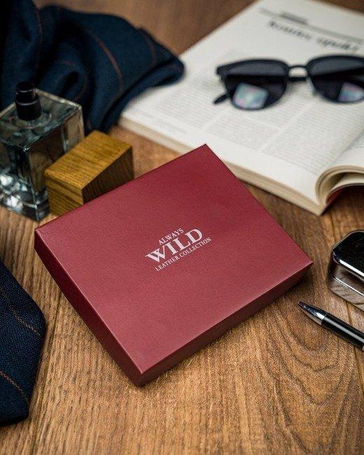 Portfel męski brązowy Always Wild N992-BPU-2 BROWN