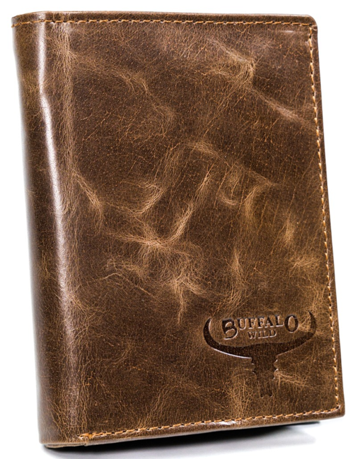 Portfel męski brązowy Buffalo Wild D1072-MVTB BROWN