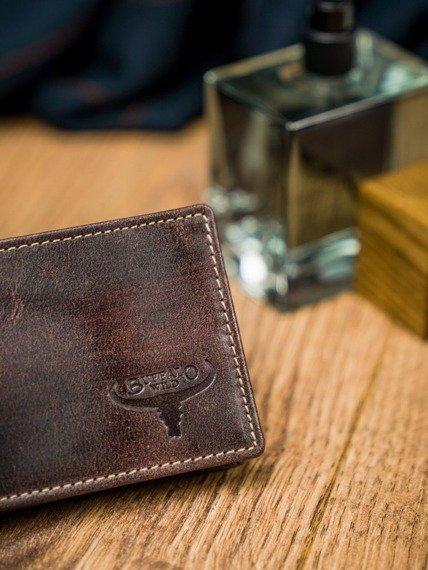 Portfel męski  brązowy Buffalo Wild N1184-HP-4857 RUST