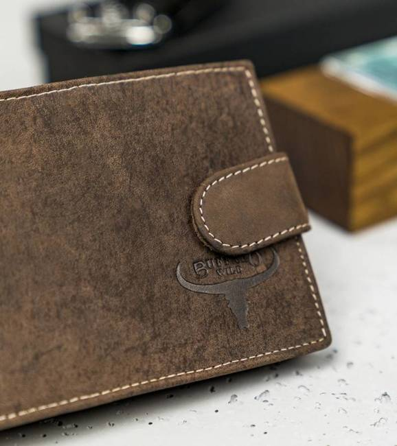 Portfel męski brązowy Buffalo Wild RM-02L-HBW BROWN