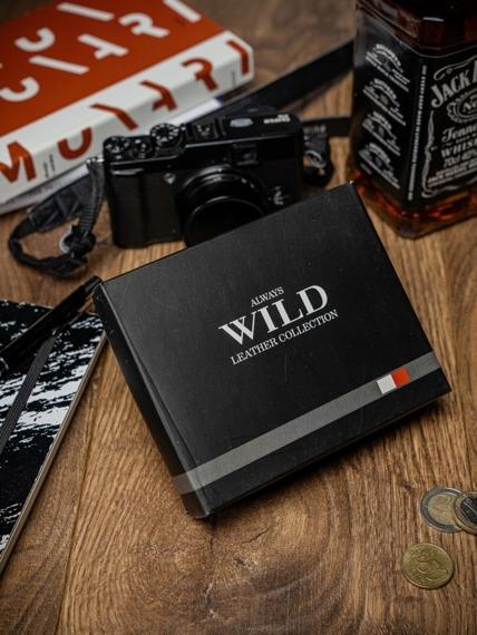 Portfel męski czarno-beżowy Always Wild N4Z-R-MHD BLACK/TAN