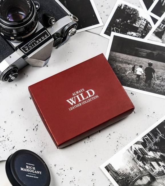 Portfel męski czarny Always Wild N2002L-VTK-BOX-4572
