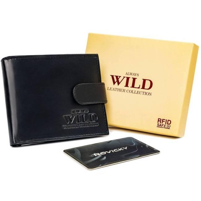 Portfel męski czarny Always Wild N7L-SCR-1868 BLACK