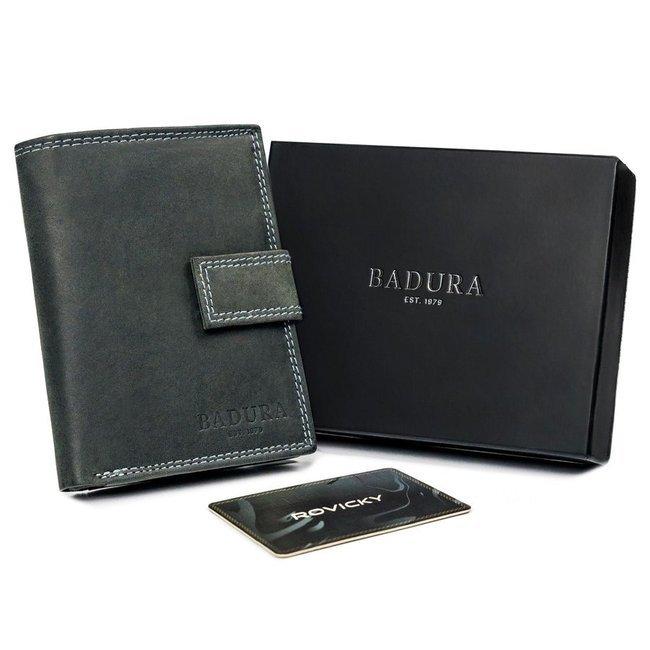 Portfel męski czarny Badura N104L-MH-BA BLACK