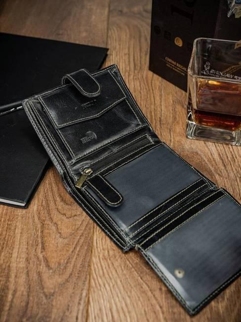 Portfel męski czarny Buffalo Wild RM-04L-BAW 2 BLACK