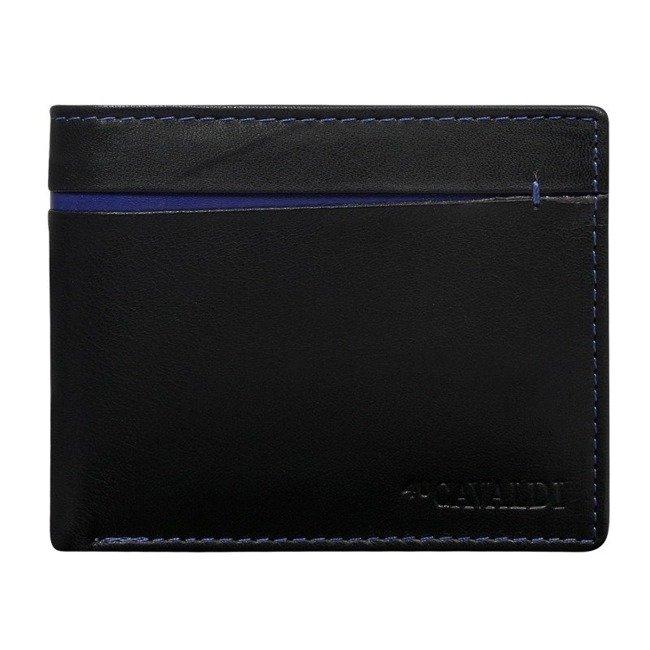 Portfel męski czarny CAVALDI  N7-DZN BLACK BLUE