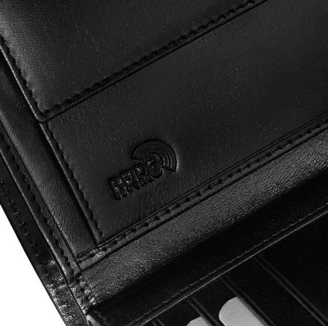 Portfel męski czarny Rovicky 331L-RBA-7009 BLACK