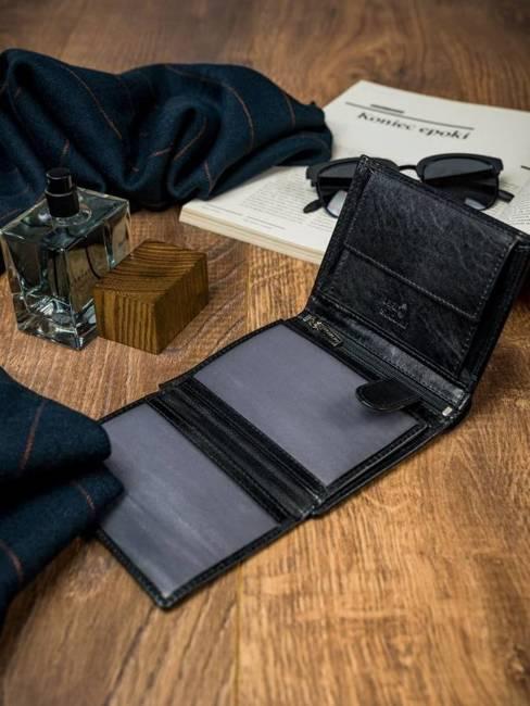 Portfel męski czarny Rovicky N4-VT-R8 BLACK