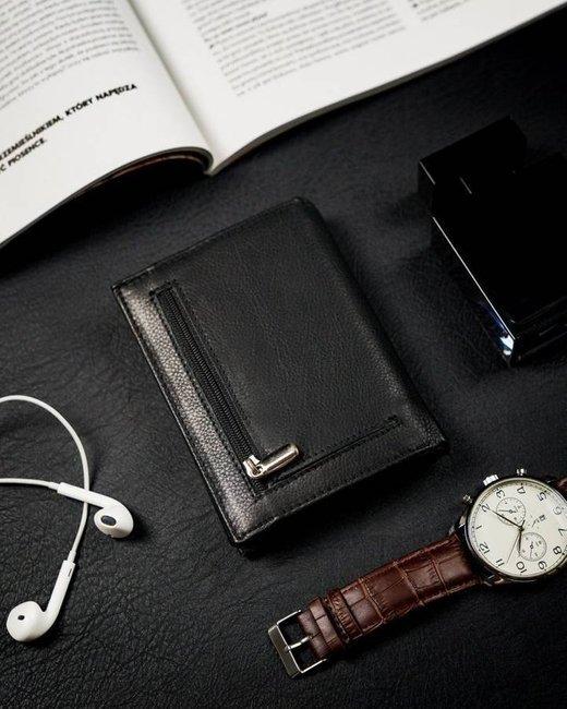 Portfel męski czarny Rovicky N62-PZ-CCR-RFID-BLAC
