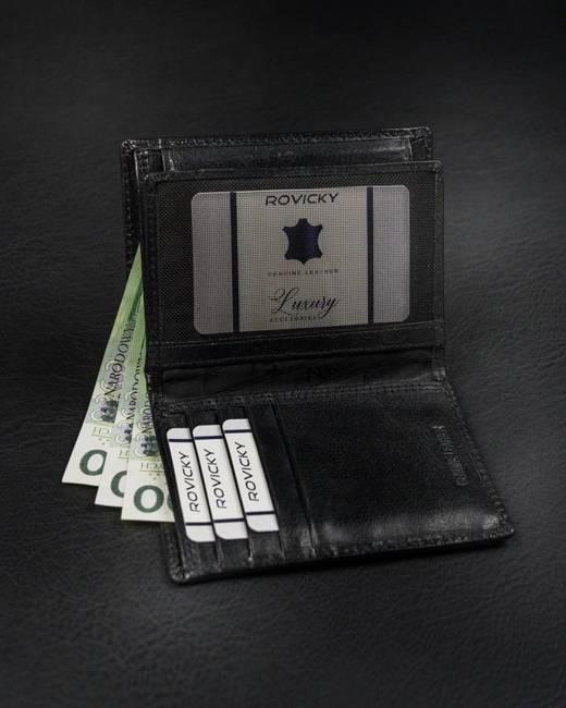 Portfel męski czarny Rovicky RV-7680056-9-8688 BL