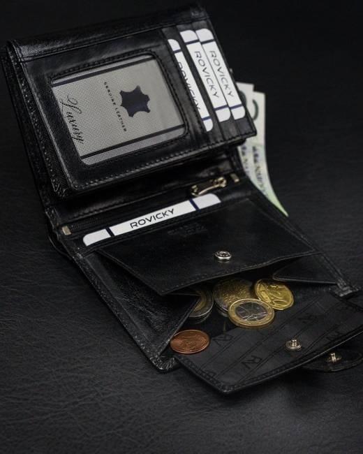 Portfel męski czarny Rovicky RV-7680272-9-8640 BL