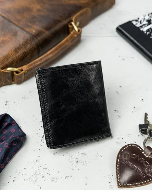 Portfel męski etui na karty czarne Rovicky N1909-RVTK BLACK