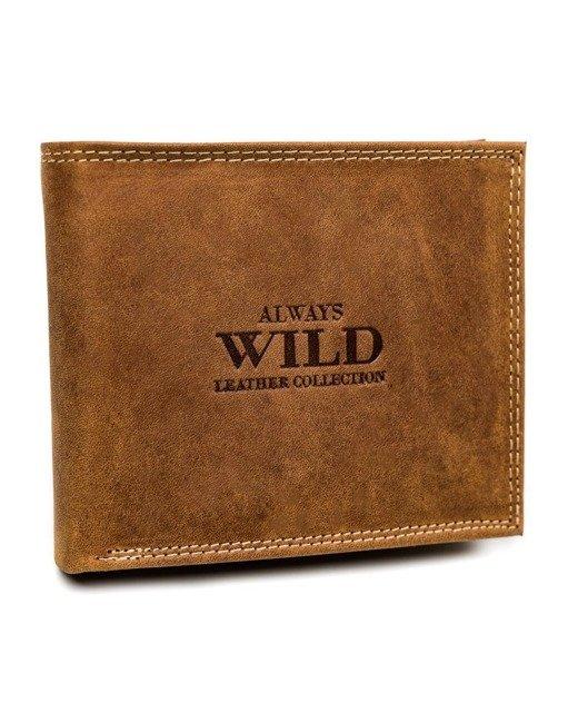 Portfel męski koniakowy Always Wild N992-CHM COGNAC