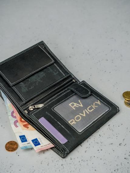 Portfel męski skórzany Always Wild N4-MHU-RFID-2106 BLA czarny