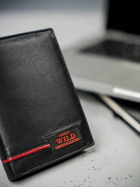 Portfel męski skórzany Always Wild N4-RB  czarny