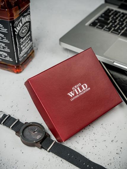 Portfel męski skórzany Always Wild N4L-MHU czarny