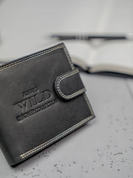 Portfel męski skórzany Always Wild RMH-02L czarny
