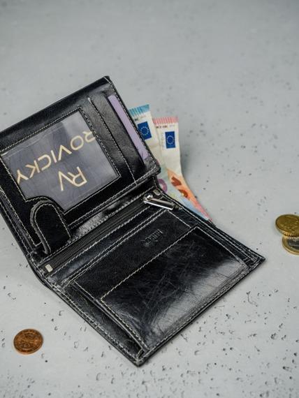 Portfel męski skórzany RFID Always Wild N4-BC czarny
