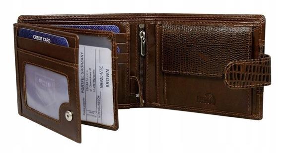 Portfel męski skórzany RFID Buffalo Wild N992L-VTC brązowy