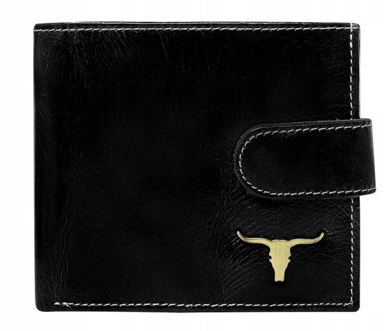 Portfel męski skórzany RFID Buffalo Wild RM-01L-BAW 2 czarny