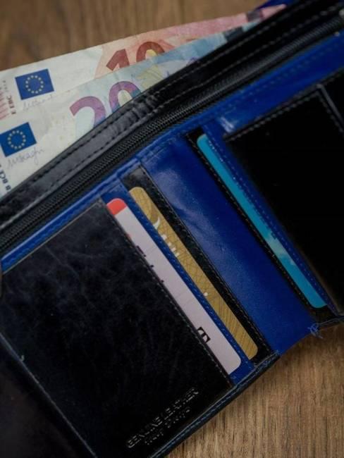 Portfel męski skórzany RFID Rovicky D1072L-VT2 czarno-niebieski