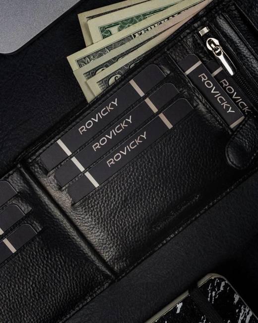 Portfel męski skórzany Ronaldo N992 TP-RON czarny