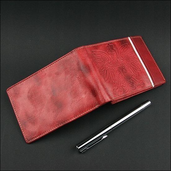 Portfel męski skórzany patriotyczny N992A-HP czerwony