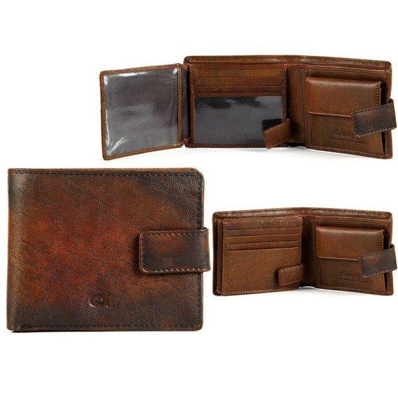 Portfel skórzany DAAG Alive P-05 vintage koniakowy w pudełku