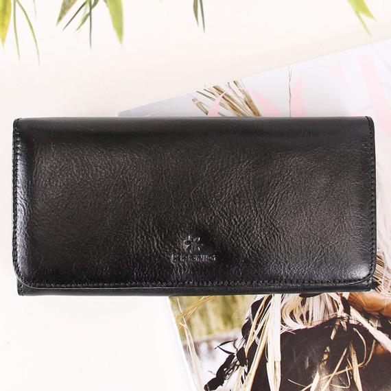 Portfel skórzany damski KRENIG Classic 12026 czarny w pudełku