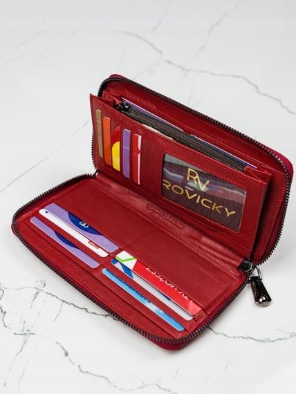 Portfel skórzany lakierowany Lorenti 76119-RSBF czerwony