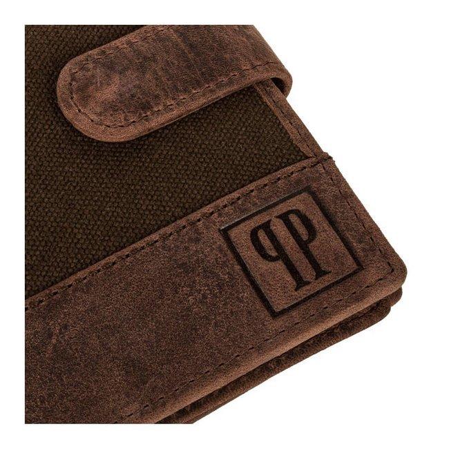 Portfel skórzany męski RFID brązowy Paolo Peruzzi T-03