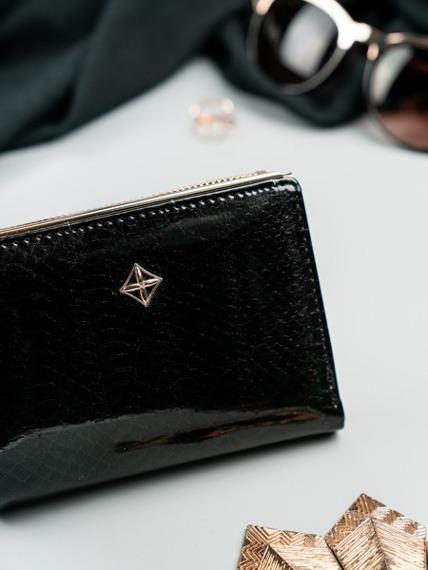 Portmonetka damska czarna Milano Design K1212