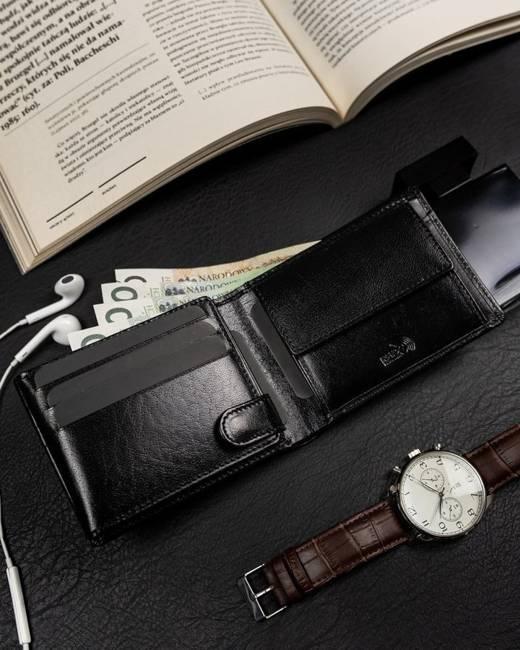 Poziomy portfel męski czarny Badura PO_M086CZ_CE