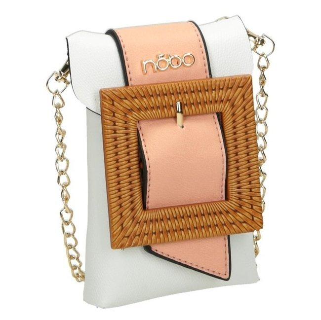 Saszetka listonoszka damska biała NOBO NBAG-I0760-C000