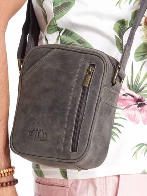 Saszetka na ramię skórzana Always Wild 8023 czarna