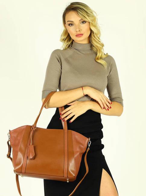 Shopper MARCO MAZZINI camel 409b