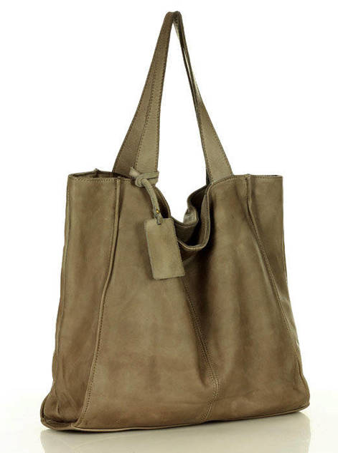 Shopper bag MARCO MAZZINI beż taupe v102i