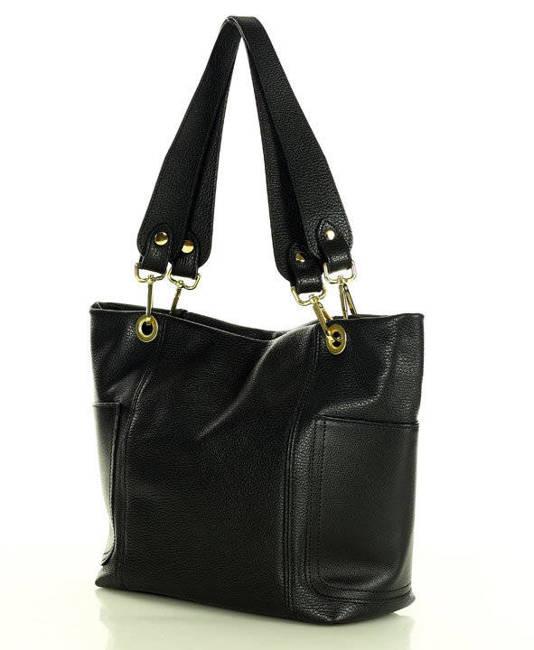 Shopper bag MARCO MAZZINI czarny s270a