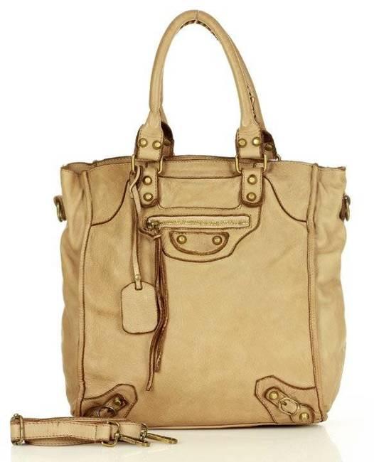 Shopper bag MARCO MAZZZINI beżowy v170b