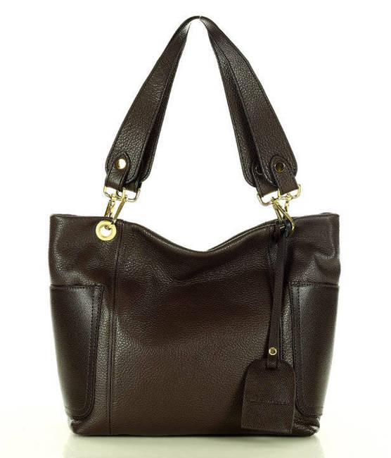 Shopper bag c. brązowy MARCO MAZZINI s270b