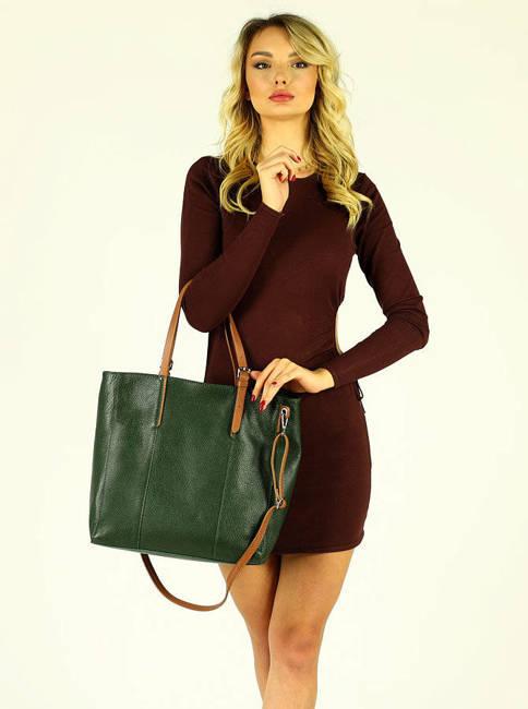 Shopper bag c. zielony MARCO MAZZINI s265f