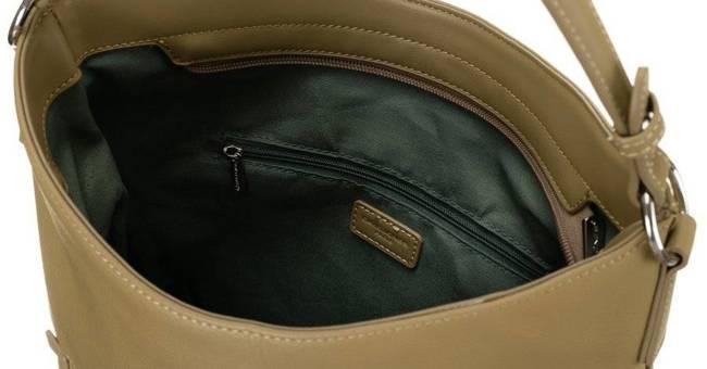 Shopper bag khaki David Jones 6518-1 KHAKI