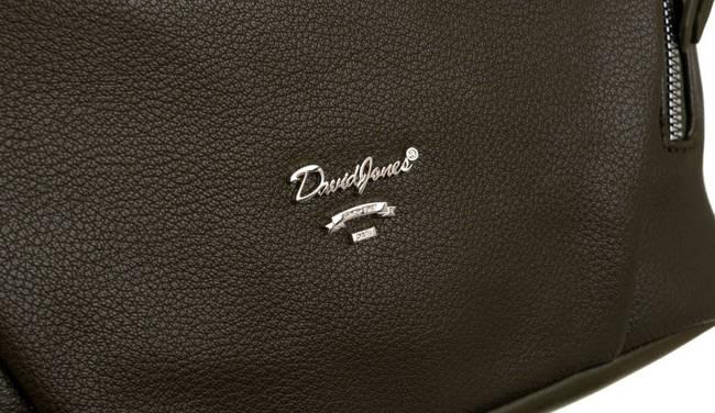 Shopper bag khaki David Jones 6607-1A KHAKI